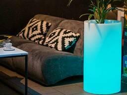 Большой вазон с подсветкой 75 см , производство Польша