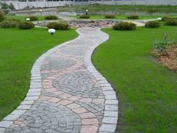 Брусчатка из камня Варшава Гранит Лабрадорит