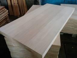 Цельноламельный мебельный щит из дуба | сорт АВ