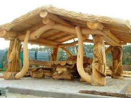Деревянные дома . ручная рубка