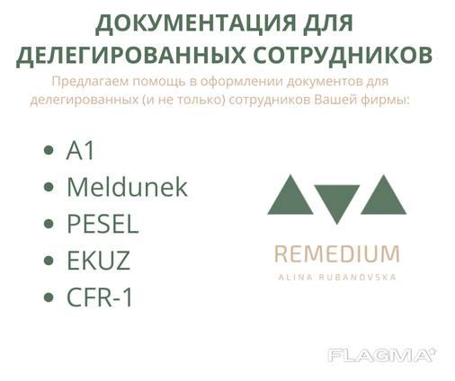 Документация для делегированых сотрудников, А1, CFR1. Pesel\Песель, Meldunek\Прописка