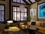 Дом выполненный из клееного бруса Карпатской ели - фото 1