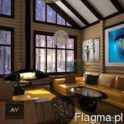 Дом выполненный из клееного бруса Карпатской ели