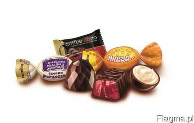 Конфеты: карамель твердая, с начинкой, покрытая шоколадом