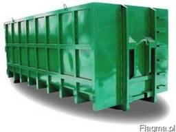 Kontenery na śmieci, zbiorniki, różne objętości.