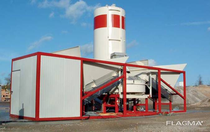 Mobile concrete mixing plant SUMAB K-40