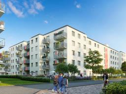 Новый жилой квартирный проект в районе Ursynów на этапе строительства в Варшаве