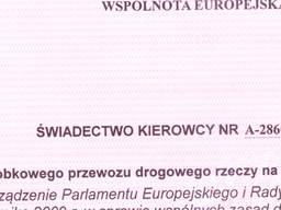 Получение розовой бумаги на водителя - свидетельство керовцы. У нас опыт. Польша. Варшава