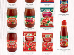 Томатная паста/ Tomato paste. Manufacture of food
