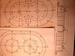 Рабочие чертежи изобретения Насос компрессор привод