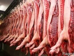 Свинина, замороженная в полутушах оптом