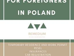 Temporary residence and work permit\ pesel \registration new companies