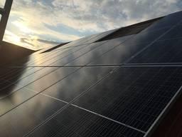 Установка солнечных панелей (montaz panele fotowoltaiczne).